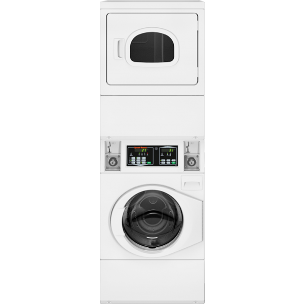Quantum Gold Coin Drop Stack Washer Dryer Electric White